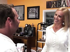 Katrena takes our guy to the back room for some fun