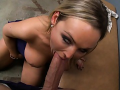 Abbey sucking cock and getting pussy licked