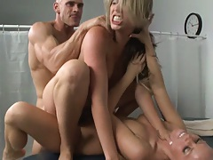 Patient slams two hot nurses from front and back