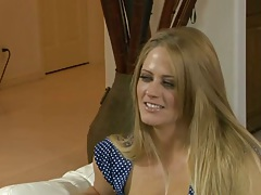 Blonde babe Holly Heart and Kierstin Koyote on guy caught cheating