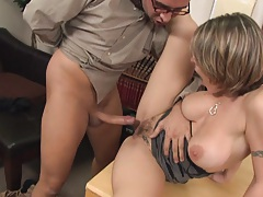Slut in the office and she is fucking for vacation time
