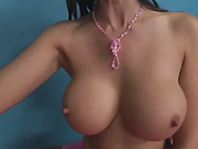 Big tits beautiful ballerina gives a wet titty fuck