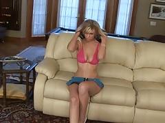 Solo medium tits Brooke Banner taking off her miniskrit