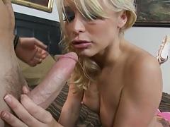 Smooth slut porn star Monique Alexander sucking shaft