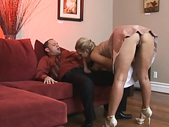 Milf swapps her husband dick and he gets a fresh cunt