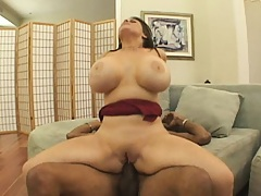 Daphne rides that black rod with asshole