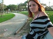 Picking up a cute redhead in a public park