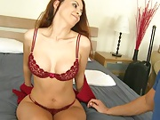 Apt rent from sexy redhead Greena and her big tits