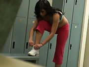 April fools prank with a babe in the locker room
