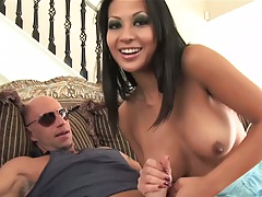 Handjob with lovely and busty Gianna Lynn