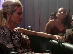 Babe Kiara Diane making out and kneeling to sucking dick