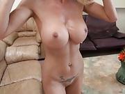 Big tits milf pov blowjob and balls lick