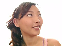 Asian solo birthday whore gets naked