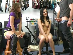 Money talks gets a cute petite brunette for some socking