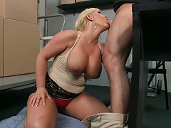 Hot Julie love a nice cock slap on the tongue