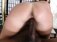 Pink milf pussy riding cock leaking liquids