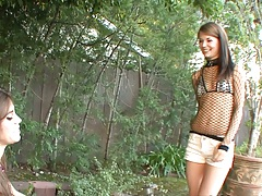 Sensi and Izzy small tits horny lesbian skinny sluts