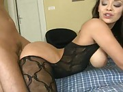 Rear penetration and sideways big tits Liiza fuck