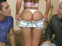 Threesome with a sexy euro slut Debbie