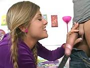 Blowjob from Bella a super hot teen slut