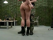 Great army slut Devon gets ass rimmed