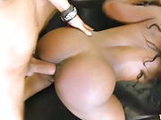 Persia moans while her black pussy fucked hard