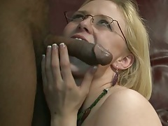 Black cock white slut mouth filled with Clayra Beau