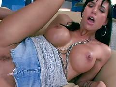 Sideways fucking up jean skirt big tits milf Gia