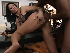 Doggy style ripping a nice hungry milf pussy