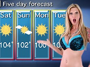 The new weather girl whore Brooke doing the news