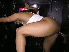 Black cock white girl in glory hole sex with Becca Diamond