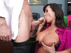 Big tits milf blowjob with Lisa Ann