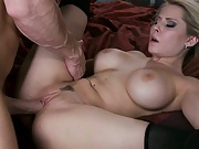 Madison holds her tits while Johnny plows pussy
